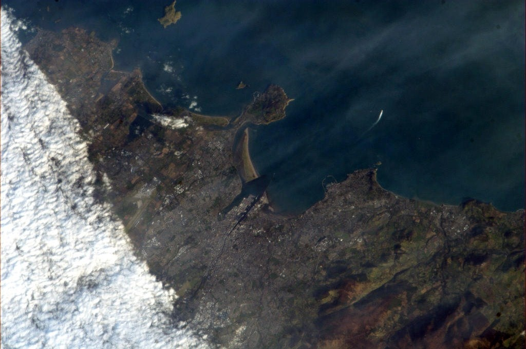 Chris Hadfield's photo of Dublin from the International Space Station