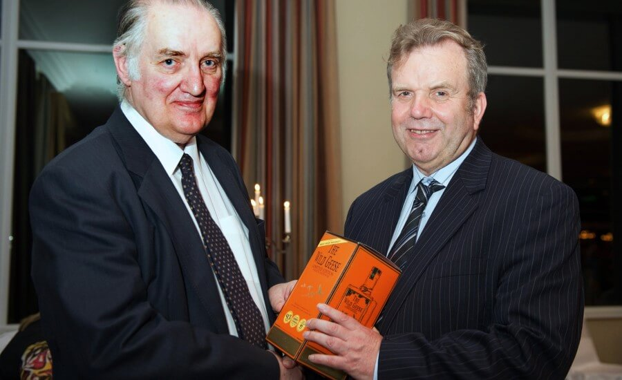 Tip O'Neill Award Recipient Niall O'Dowd Presented With A Bottle of The Wild Geese®  Irish Whiskey